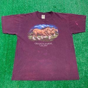 Vintage 90s Grants Farm Clydesdales Shirt